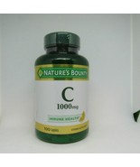 Nature's Bounty Pure Vitamin C Caplets 1000mg, 100CT. Exp: 06/2022 - $21.77