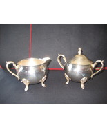 Leonard Silverplate Creamer and Sugar Bowl  - $19.13