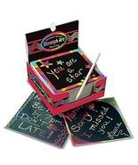 Melissa & Doug Scratch Art Rainbow Mini Notes  With Wooden Stylus Fast S... - $11.73