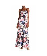 Multi Floral Floral Taffeta Gown Dress, Size 7 City Triangles $120 - $72.76