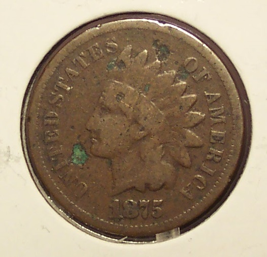 Primary image for 1875 Indian Head Cent G #01038