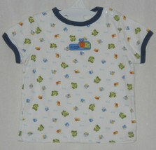 Just One Year by Carters Infant Boy White Blue Top Bugs Frogs Size 6M CUTE! - $1.95