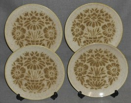 Set (4) 1960s Red Wing LIKE CHINA DAMASK PATTERN Salad Plates MADE IN MI... - $29.69