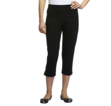 Women with Control Contour Waist Pull-On Capri Pants Color Black Size Small - $10.80