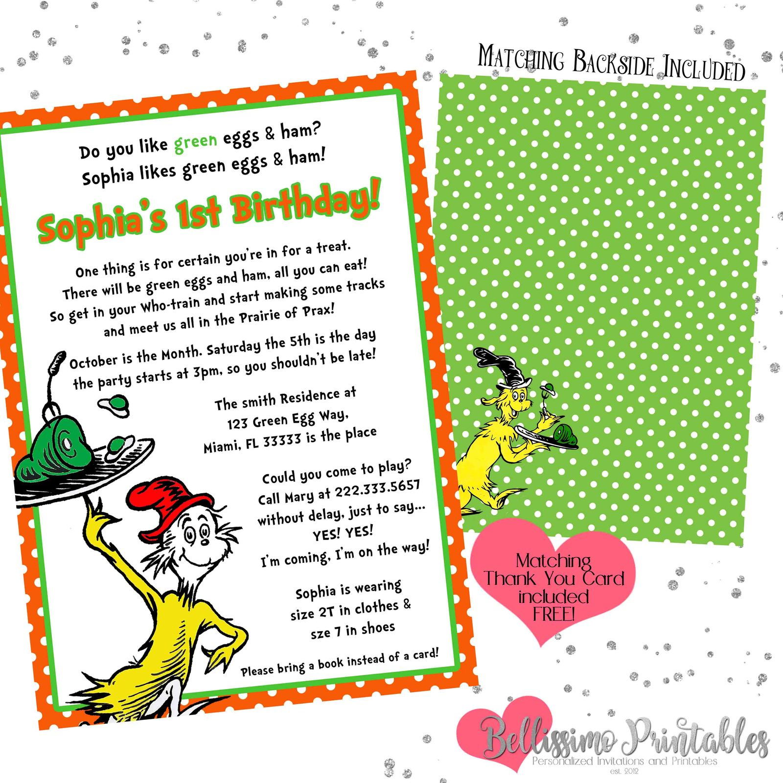photo about Green Eggs and Ham Printable titled Environmentally friendly Eggs Ham Birthday Little one Shower and 50 identical solutions