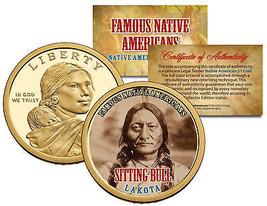 SITTING BULL *Famous Native Americans* Sacagawea Dollar US $1 Coin LAKOT... - $8.56