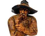 Wax Candle West Germany W Figurine Holthaus Filzenweg Cowboy Western Bust statue