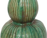 Vase Fluted Gourd Hexagonal Colors May Vary Speckled Green