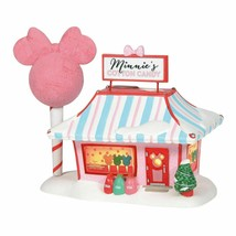 Disney Village Minnie's Cotton Candy Shop Light-Up Holiday Building D56 ... - $108.85