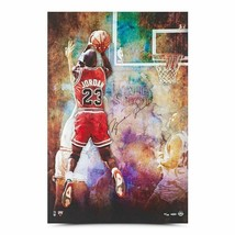 "MICHAEL JORDAN Signed Chicago Bulls ""THE SHOT"" 24 X 36 LE to 123 UDA. - £1,436.93 GBP"
