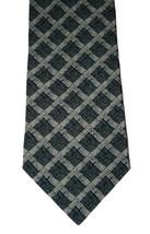 NEW GIORGIO ARMANI Italy silk tie necktie Cravatte luxe green designer a... - $67.89