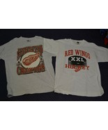 """L/XL Lot 1997 NHL Detroit Red Wings Stanley Cup Champions & """"XXL"""" Hockey... - $18.69"""