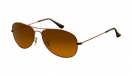 Ray Ban RB3362 Sunglasses Dark Brown Crystal Frame Brown Orange - $46.51
