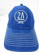 2A Blue White Snapback Adult Cap Hat - $12.86