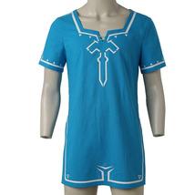 Zelda Link Cosplay T-shirt Link Blue Cosplay Costume Halloween T-shirt Custom - $36.00