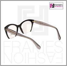 MIU MIU RASOIR MU03QV Eyeglasses Optical Frame Black Grey Translucent 51mm 03Q image 3