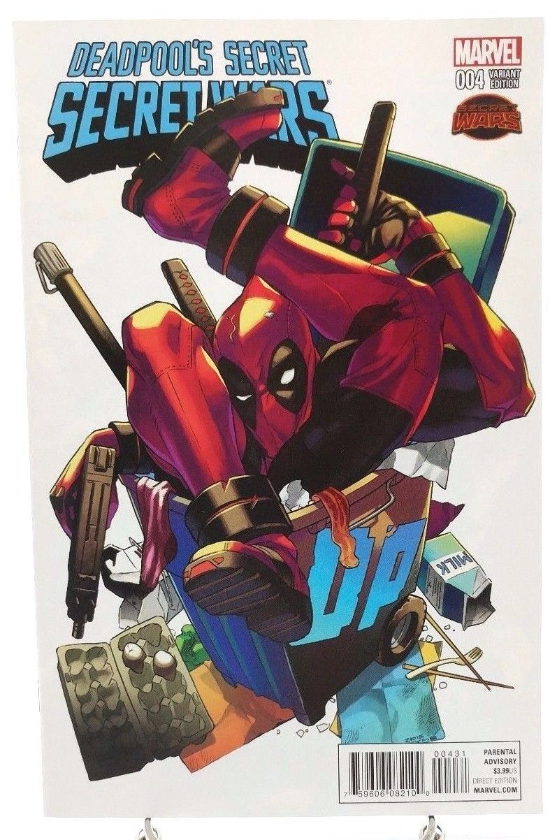 Deadpool's Secret Secret Wars #4 Manga Variant Cover Marvel Comics Book 2015