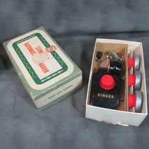 Vintage Singer Automatic Zigzagger No. 160985 In Box with Zipper Foot 16... - $45.82
