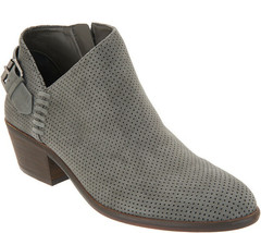 Vince Camuto Suede Booties with Buckle Detail - Parveen Gray Stone 9 M - $69.29