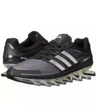 Men's SIZE 13 ADIDAS Springblade M Sneakers Black/ Gray G66648 Running Shoe - $108.89