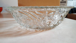 Vintage Anchor Hocking Stars & Bars (Thousand Lines) Glass Bowl, Scallop... - €24,58 EUR