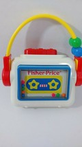 Fisher Price vintage 1992 baby cassette tape player Rattle toy squeaks - $17.81