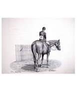 Waiting His Turn  (A Signed Limited Edition of a Pencil Sketch) by Vic A... - $60.00
