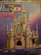 Disney Puzz 3d Cinderella Castle 530 pieces Puzzle MB - $17.82