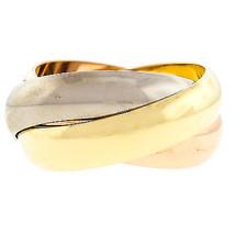 "Cartier ""Trinity De Cartier"" 18K 3 Gold Large Womens Ring - $1,286.01"