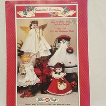 "Angle Air Freshener Dolls Pattern 5 3/4""  Fibre Craft 1994 FCM394 Christmas - $14.99"