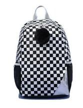 "16.5"" Kids' Backpack Check Repeat Black & White - More Than Magic"