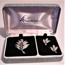Vintage Camelot Rhinestone Brooch & Earrings NOS - $29.65
