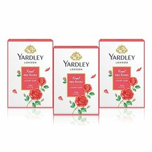 Yardley Jabón, Royal Rojo Rosas , 100g Cada (Pack De 3) - $19.83