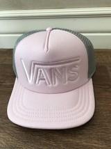 NEW Vans Off The Wall Men's DROP V MESH Trucker Hat Cap PINK Grey - $18.68