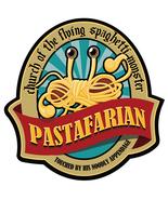 Church of The Flying Spaghetti Monster shaped vinyl sticker 12x11cm past... - $3.30