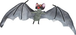 Bat Prop Hanging 59 Inches Animated Sounds Realistic Haunted House SS88370 - $939,44 MXN