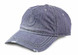 True Religion Men's Vintage Distressed Cotton Horseshoe Trucker Hat Cap TR2095 image 11