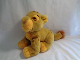"Disney Store Lion King Soft Simba Cub Plush Toy 8"" Long - $8.86"
