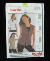 Blouse Shirt Sewing Pattern Size 8 10 12 14 16 18 Misses # 8805 Burda Mo... - $5.93