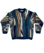 Carlo Alberto Men's Large Sweater Multi-Color 100% Mercerized Cotton Aus... - $93.49