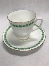 Tea coffee cup Porcelain Royal Stuart Spencer Stevenson England Green Iv... - $39.59