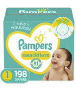 Baby Diapers Newborn/Size 1 8-14 lb 198 Count  Pampers Swaddlers 1 MONTH... - $59.39