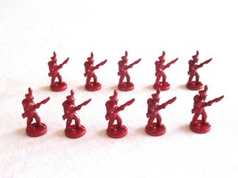 10x Risk 40th Anniversary Edition Board Game Metal Soldier Infantry Red Army Lot - $16.99