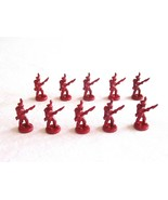 10x Risk 40th Anniversary Edition Board Game Metal Soldier Infantry Red ... - $16.99