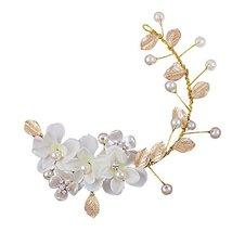 Korea Style Hand Made White Flower Wedding Head Decoration Hair Beauty image 2