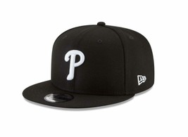 New Era 9Fifty Hat Philadelphia Phillies Basic Black Snapback Adjustable... - $28.70