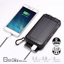 Soluser 10000mAh Portable Solar Charger External Backup Battery Pack TS-... - $32.84