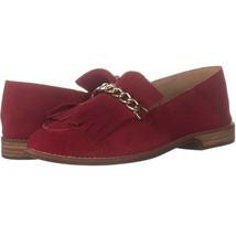 Franco Sarto Augustine Fringe Loafers 007, Red Suede, 6.5 US / 36.5 EU - $25.91