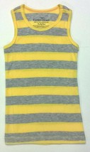 Girls Faded Glory Tank Top Rib Knit Yellow And Gray Striped Size XS 4-5 - $0.99