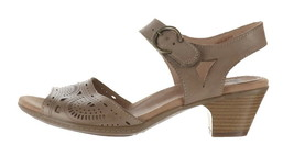 Earth Leather Two-Pc Heeled Sandals- Carson Westport New Khaki 8M NEW A3... - $85.12